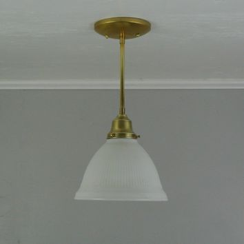 Vintage Stiffel Milk Glass Pendant Light