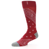 Red Paisley Men's Casual Socks - STANCE