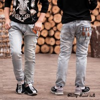 Boys Jeans spring and autumn models boy jeans trousers Kids Korean children wave of big boy jeans 3 to 14 years