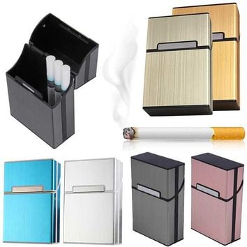 Cigar Cigarette Case Light Aluminum Cigars Tobacco Holder Pocket Box Storage Container LS