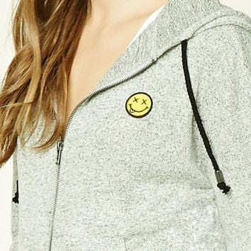 Happy Face Patch Hoodie