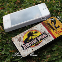 Jurassic Park Jeep License Plate 12 Customized cellular case for iPhone 4/4S, iPhone 5/5S/5C, Samsung Galaxy S3 and S4, ipod 4 and ipod 5