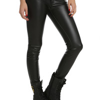Machine Black PU Skinny Pants