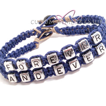 Forever and Ever Bracelets, Couples Bracelets, Boyfriend Girlfriend Bracelets , Anniversary Gift