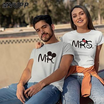 Mr And Mrs Disney Couples Graphic Tee Shirt