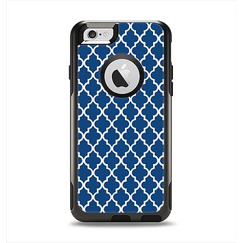 The Navy & White Seamless Morocan Pattern Apple iPhone 6 Otterbox Commuter Case Skin Set