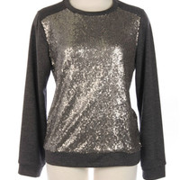 Gray Top with Sequins