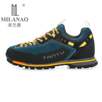 MILANAO 2017 Man Waterproof Breathable Hiking Shoes Big Size Outdoor Boots Trekking Sport Sneakers Men Waterproof Shoes