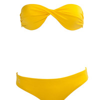Yellow Bikini TOP ONLY Yellow Bikinis Swimsuit Bathing Suit Swim Beach Beachwear Outfit Surf Surfer Fashion Style Borabound S M L
