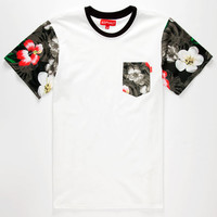 Ayc Paradise Lost Mens Pocket Tee White  In Sizes
