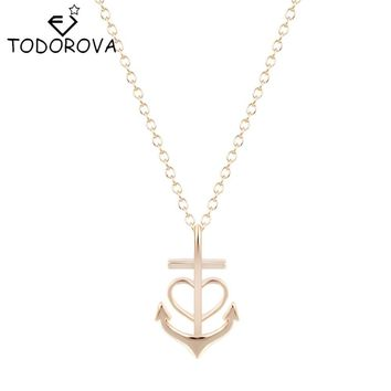 Todorova Army Unique Love Heart Pendant Necklaces Silver Gold Punk Jewelry Best Valentines Day Gift for Girlfriend Mon