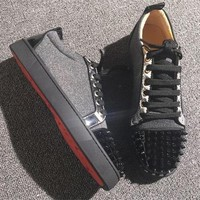 Cl Christian Louboutin Low Style #2059 Sneakers Fashion Shoes