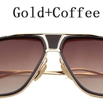 18K Gold Plated Square Sunglasses