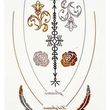 SILVER AND GOLD TEMPORARY TATTOOS