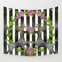 Deer Pattern 01 Wall Tapestry by Aloke Design