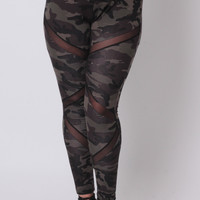 Plus Size Generation X Leggings - Camo