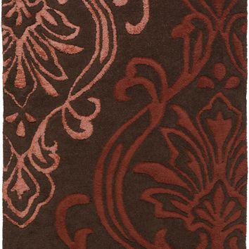 Surya CAN1950 Modern Classics Brown, Red Rectangle Area Rug