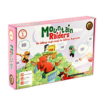 MOUNTAIN RAIDERS addition board game with 3 digit numbers STEM toy Math manipulative and game gift for kids 6 years and up
