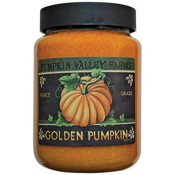 Golden Pumpkin Jar Candle, 26oz