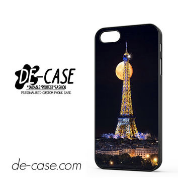 Full Moon In The Eiffel Tower Paris For Iphone 5 Iphone 5S Case Phone Case Gift Present