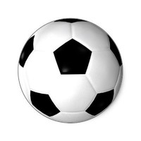 Soccer Ball ( football ) Round Stickers from Zazzle.com
