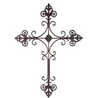 Brushed Metal Cross with Fleur-de-Lis | Shop Hobby Lobby