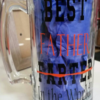 Best Farter oops I mean Father Beer Mug! Funny - Dad - Daddy - Papa - Unique - Gift - Present - Father's Day - Gift for Him