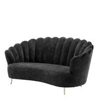 Black Velvet Sofa | Eichholtz Messina