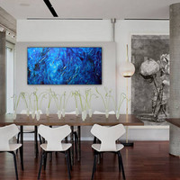 Large Wall Art, Abstract art, Contemporary art, Painting Original abstract painting textured Painting H20 an Abstract Water Painting