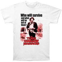 Texas Chainsaw Massacre Men's  Who Will Survive T-shirt White