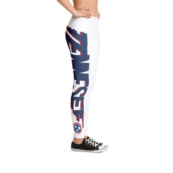 Tennessee Map and Flag Leggings