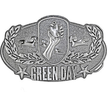 Officially Licensed GREEN DAY Logo Belt Buckle