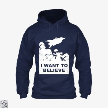 I Want To Believe Planet Express, The Simpsons Hoodie