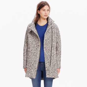 CITY GRID COAT IN TWEED