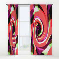 Painted Wind Whirl Window Curtains by kasseggs