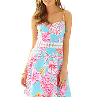 LENORE DRESS - BREAKWATER BLUE LOLITA WITH SUN from Lilly Pulitzer available online from Ocean Palm