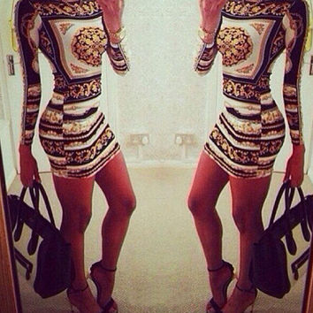 Women Print Bodycon Skirt