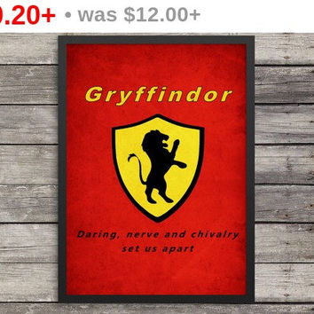 Gryffindor Poster | Minimalist Poster | Harry Potter Poster |  Kids room decor | Harry Potter art