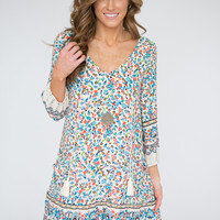 Impress Me Printed Tassel Top Dress - Multi