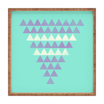 Allyson Johnson Purple Triangles Square Tray