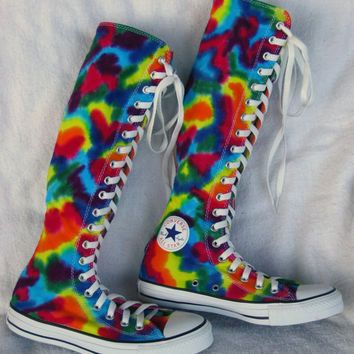 MADE to ORDER   XX-Hi  Tie-Dye Converse Sneakers  Women sz 7