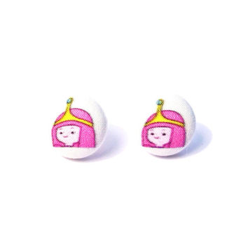 Handmade Princess Bubblegum Adventure Time Earrings or Necklace Variation available