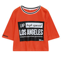 Letter Print T-shirt in Loose Fit