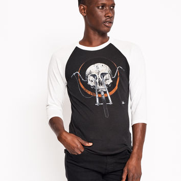 Chopper Skull Baseball Tee