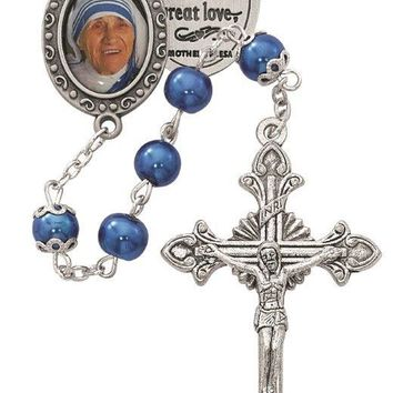 7MM Blue Pearl Mother Teresa