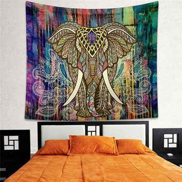 ONETOW 150x130cm Indian Mandala Tapestry Hippie Home Decorating Wall Hanging Tapestries Boho Beach Towel Yoga Mat Bedspread Table Cloth