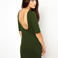 Glamorous Mini Dress In Textured Jersey With Scoop Back