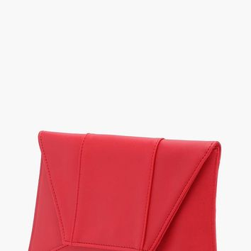 Faith Panelled Envelope Clutch | Boohoo