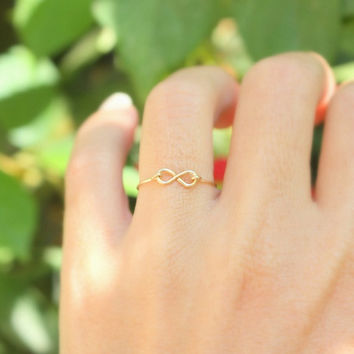 Infinity Ring  Valentine's Day Best friend infinity by JulJewelry