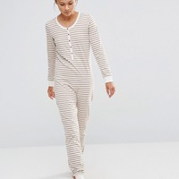 Chelsea Peers Soft Stripy Onesuit at asos.com